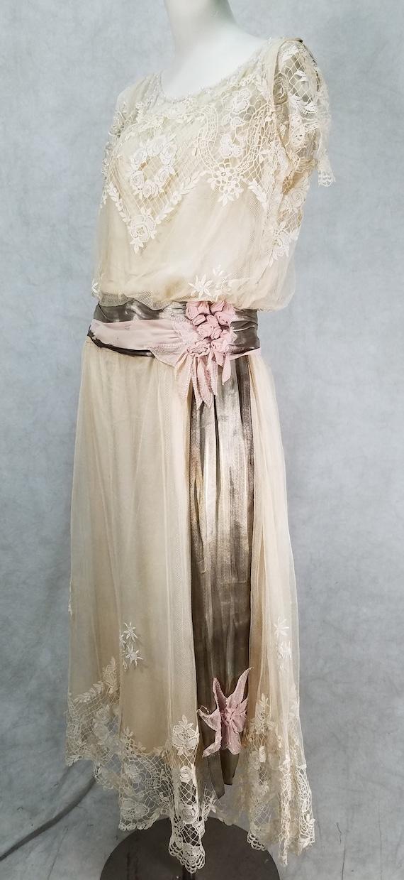 1920s Wedding Dress Vintage 1920s Dress Antique D… - image 10