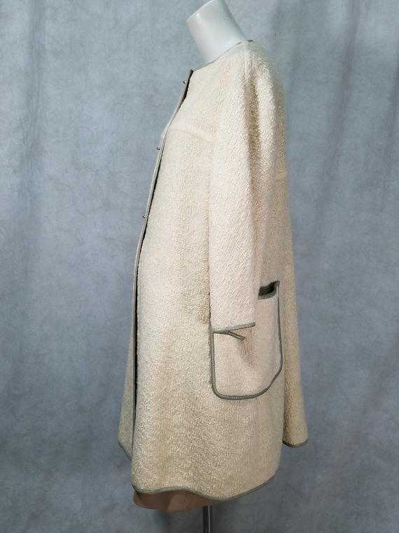 60s 2P Coat Leather Trim Bonnie Cashin Coat and D… - image 4