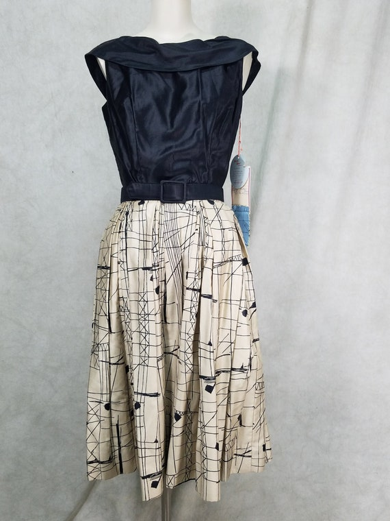 Vintage 1950s Velvet Dress Set 50s Skirt and Top Two Piece Set 25 XS S