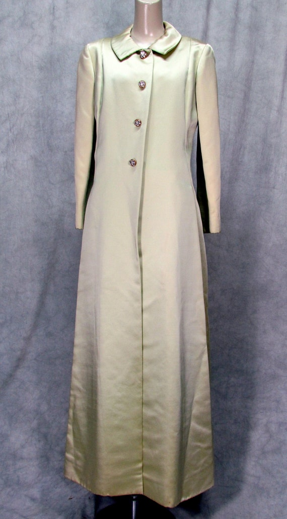 1950s Malcolm Starr Formal Dress and Coat Rhinesto