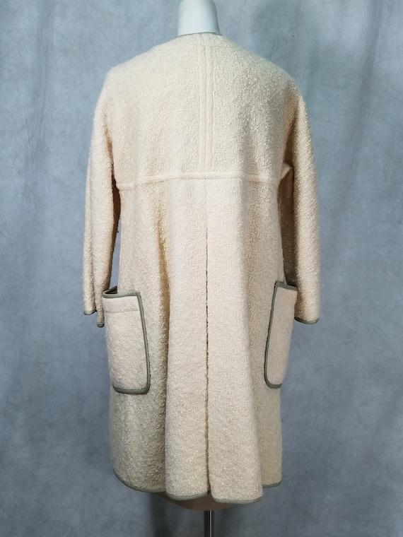 60s 2P Coat Leather Trim Bonnie Cashin Coat and D… - image 6
