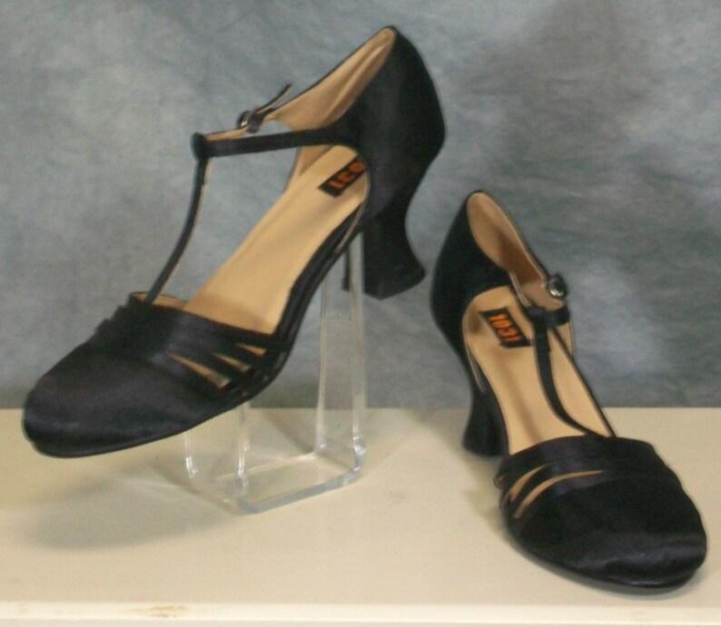 d509c3091f 1920s Heels Costume Vintage Style Flapper Shoes T Strap | Etsy