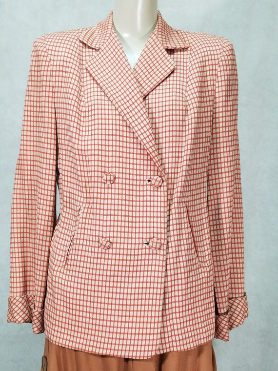 40s Jacket Double Breasted Womens Suit Jacket Vint