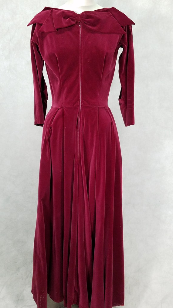 1950s Dress Bergdorf Goodman Vintage Formal Velvet