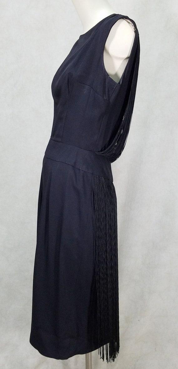 1950s Fringe Back Dress Pencil Skirt Cocktail Dres