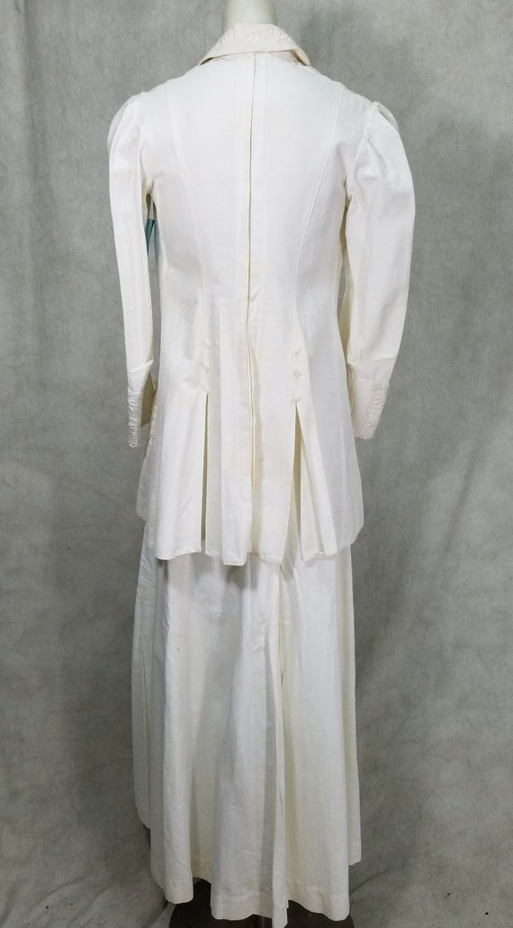 1915 Ladies Suit White Linen Suffragette Day Dres… - image 8
