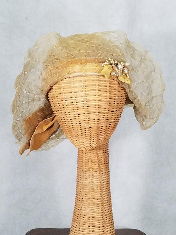 1920s Hat Summer Floppy Ornate Fabulous
