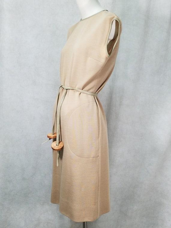 60s 2P Coat Leather Trim Bonnie Cashin Coat and D… - image 3
