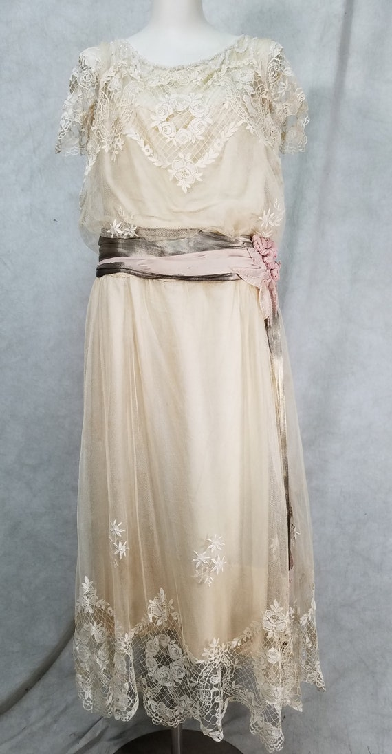 1920s Wedding Dress Vintage 1920s Dress Antique Dr