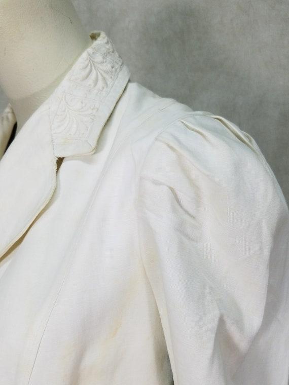 1915 Ladies Suit White Linen Suffragette Day Dres… - image 3