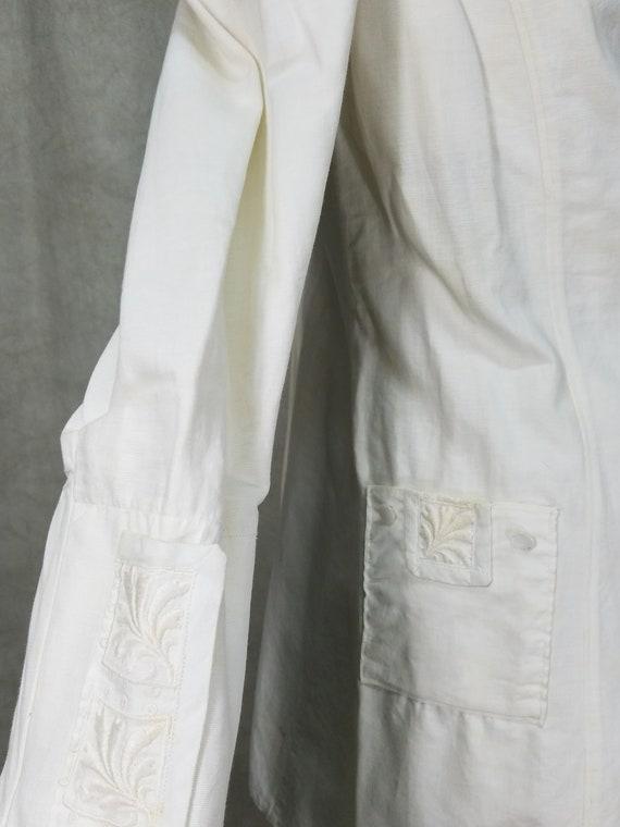 1915 Ladies Suit White Linen Suffragette Day Dres… - image 5