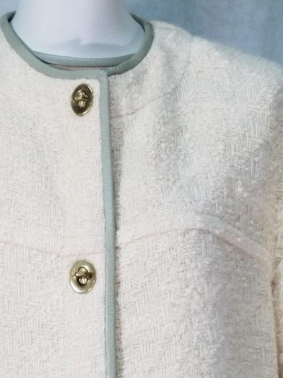 60s 2P Coat Leather Trim Bonnie Cashin Coat and D… - image 5