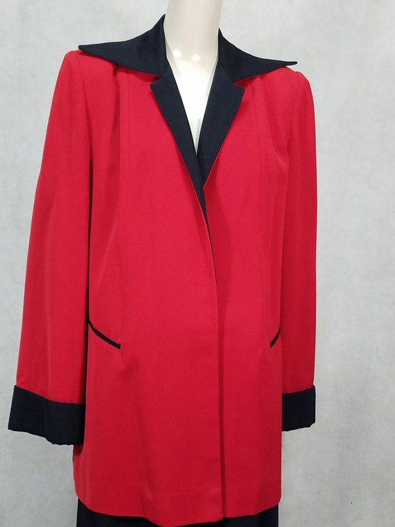 40s Womens Jacket Red Gabardine Large Size Betty R