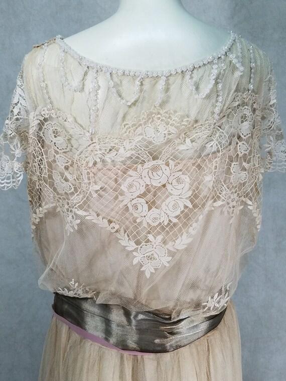 1920s Wedding Dress Vintage 1920s Dress Antique D… - image 8