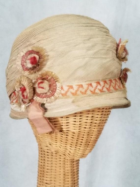 1920s Hat Cloche Summer Hat