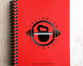 TrainRite Compact Fitness Journal - RED