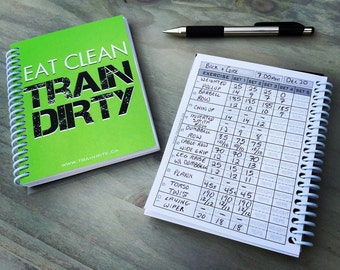 Eat Clean TrainDirty (Green) - TrainRite Compact Fitness Journal