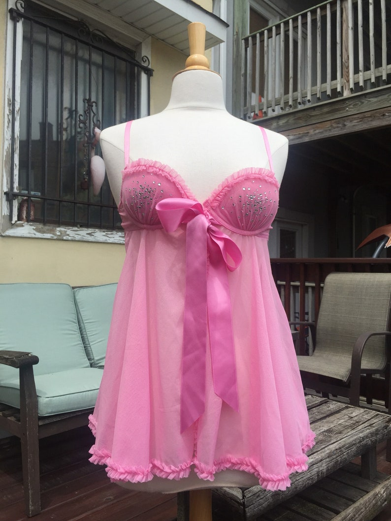 a821d006dd Bubblegum Pink Teddy with Silky Bow by Victoria Secret size