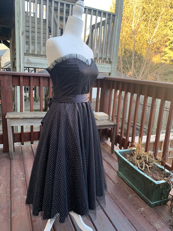 Gunnesax Black Sparkly Sweetheart Dress By Jessica