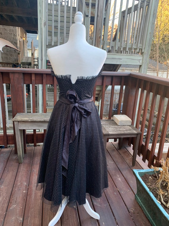Gunnesax Black Sparkly Sweetheart Dress By Jessic… - image 4