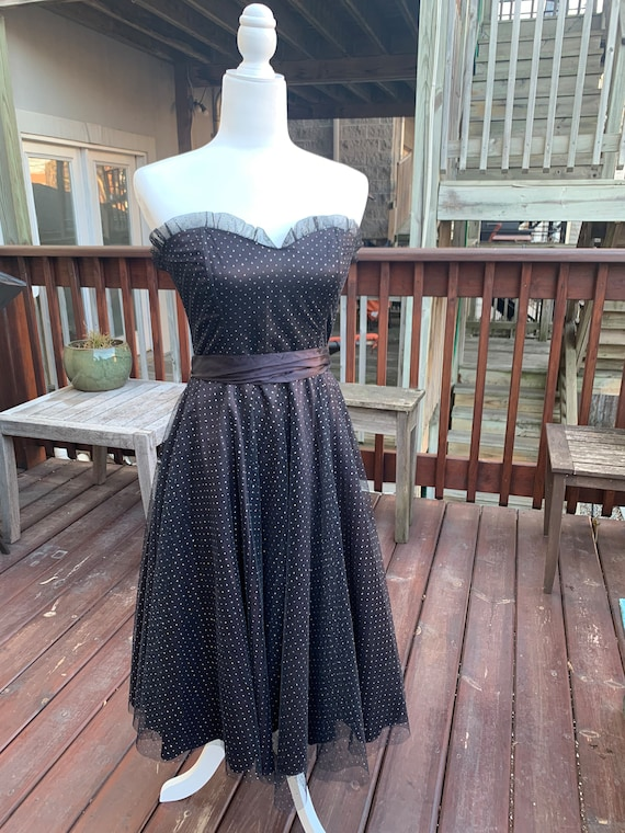 Gunnesax Black Sparkly Sweetheart Dress By Jessic… - image 3