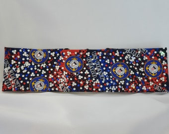 LeeAnnette Coast Guard with Blue, Red and Diamond Clear Swarovski Crystals (Sku4104)