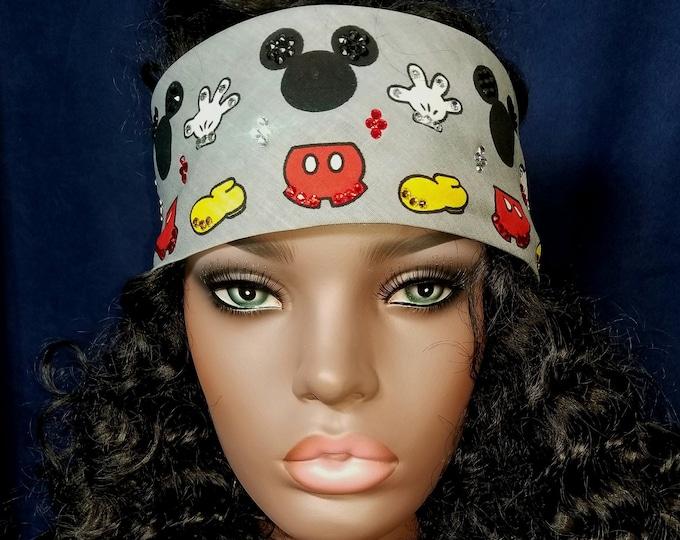 Mickey Mouse bandana with Swarovski crystals