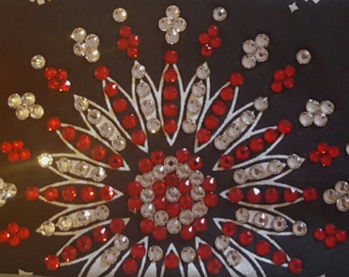 Black leannette bandana with over 300 Swarovski crystals on it