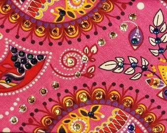 Pink Multi Color Swarovski Crystal Bandana