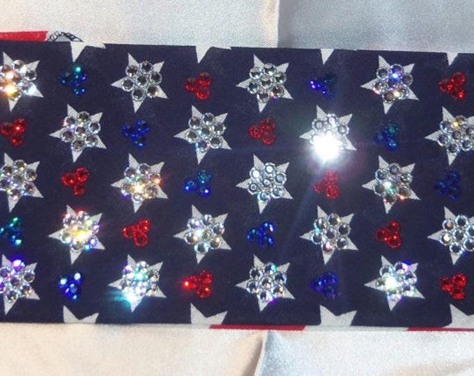 LeeAnnette American Flag Bandana Over 300 Swarovski crystals on it
