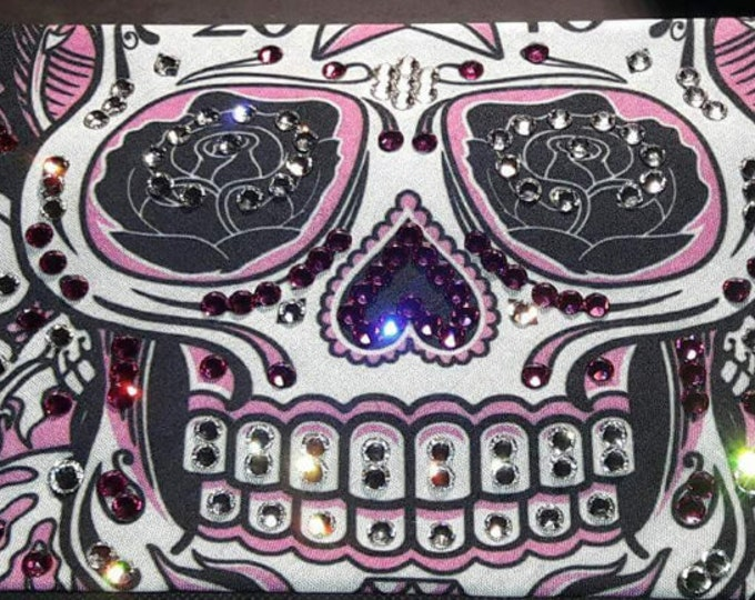 EXTRA EXTRA BLING Sturgis LeeAnnette Pink Sugar Skull With Swarovski Crystals