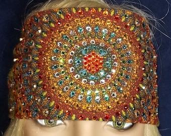 LeeAnnette Grateful Dead bandana with over 300 swarovski crystals (Sku4029)