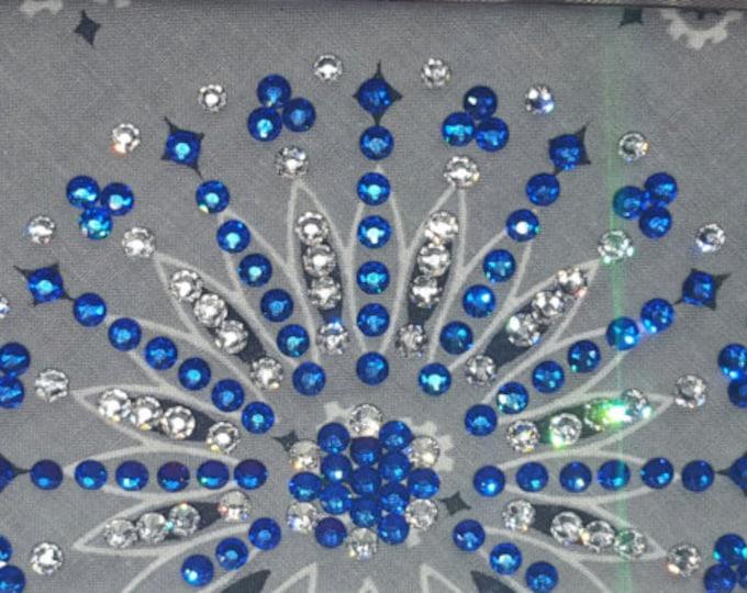 Grey Swarovski Crystal LeeAnnette Bandana With Blue Crystals
