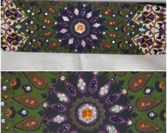 Green Indian with Orange and Diamond Clear Swarovski Crystals (Sku1302)