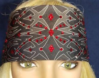 Tribal Bandana with Red Crystals (Sku1670)