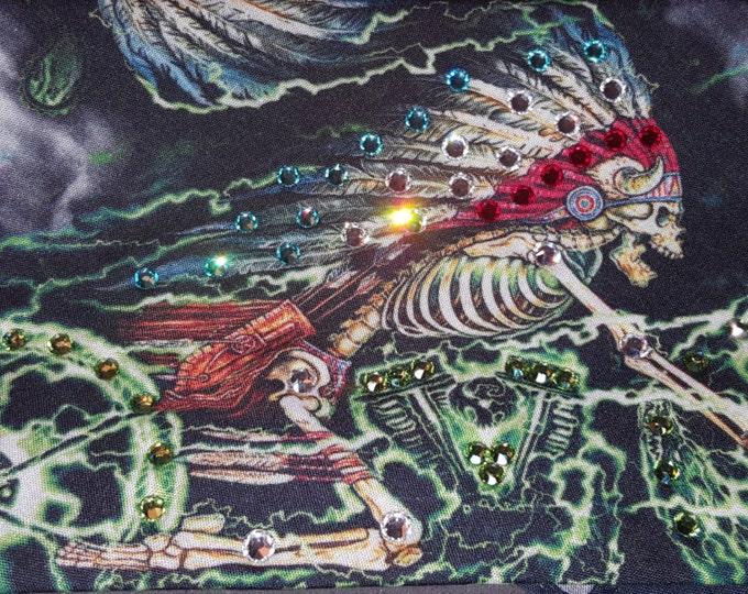 Skeleton Cycle Swarovski Crystal Bandana