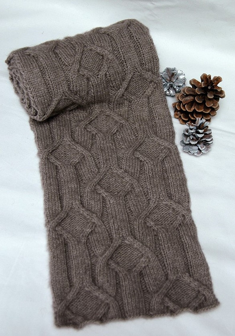 Hand knit Scarf for men/women in supersoft and warm image 0