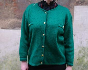 vintage dorés vert boutons Gilet 80 Iq5SwFOF