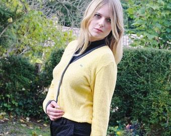 Vintage Lacoste yellow short cardigan aca4435dc