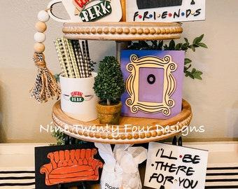 Friends tiered tray set, friends, friends decor