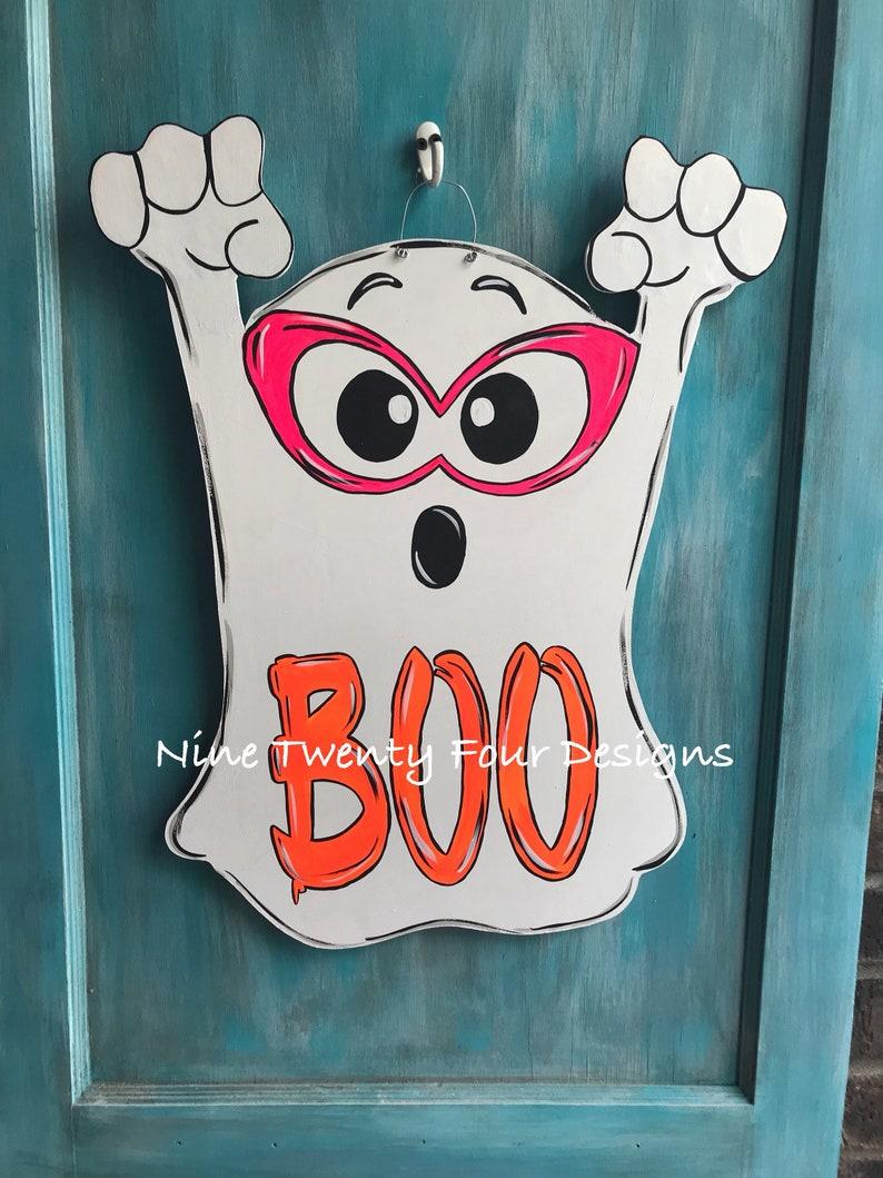 halloween halloween door hanger Ghost door hanger