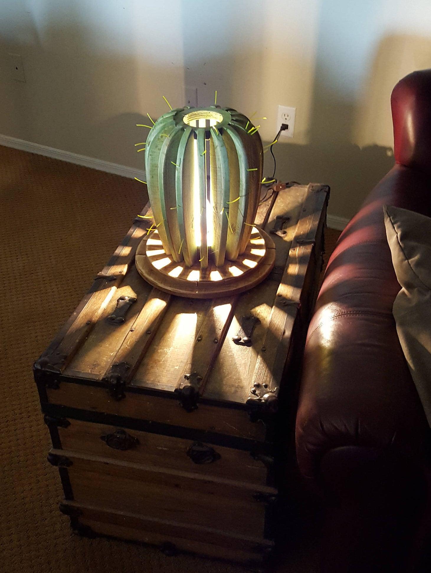 Golden Barrel Cactus Table Lamp