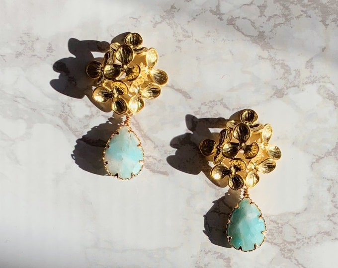 Papeete Earrings - Light Green