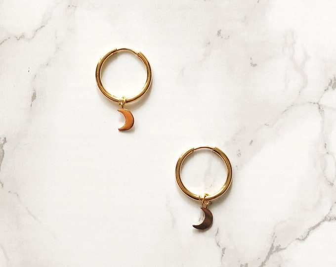 Halogen Earrings - Crescent Moon