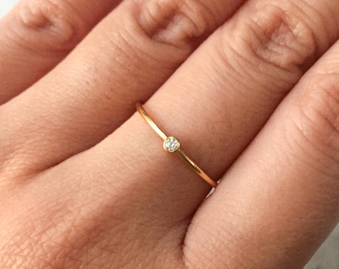 Gold Filled Dainty CZ Ring