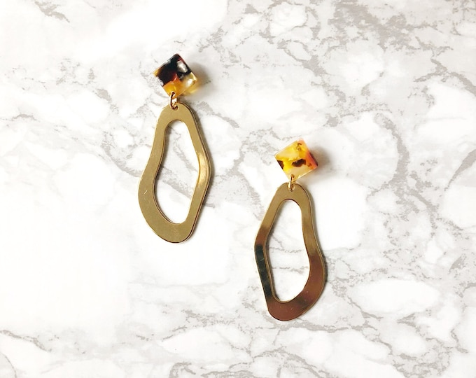 Gold Skies Statement Earrings