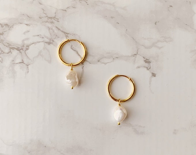 Halogen Earrings - Pearl