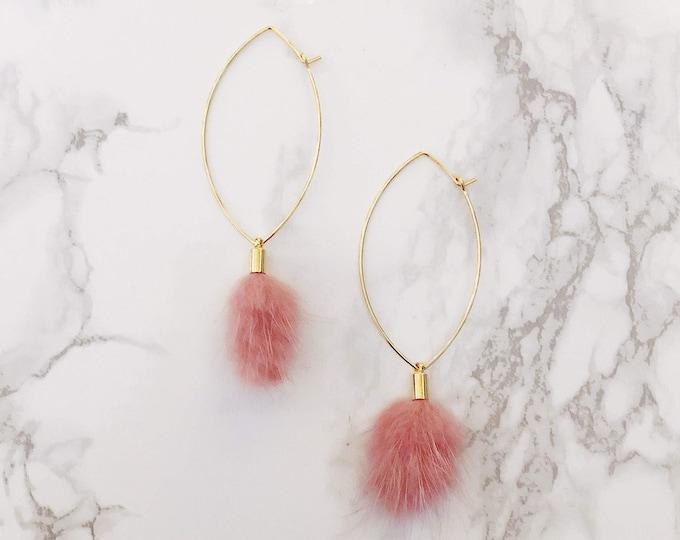 Elysees Earrings - Blush Pink