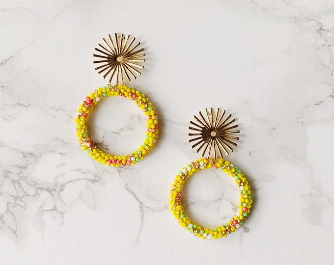 Exuma Circle Earrings - Yellow