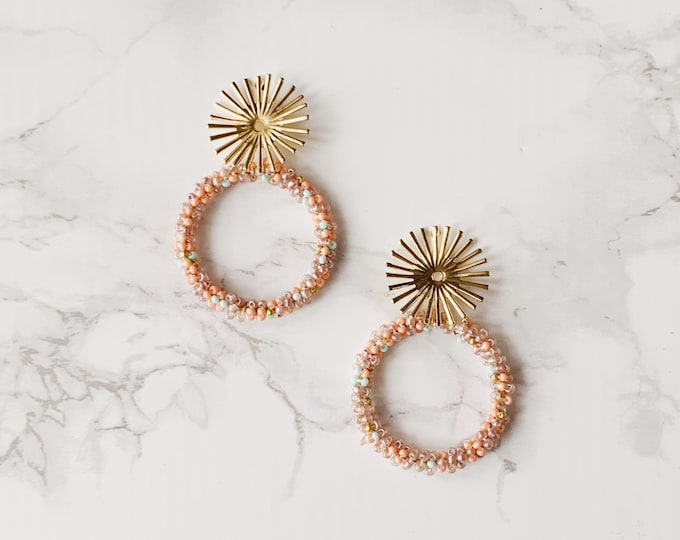 Exuma Circle Earrings - Blush Mauve